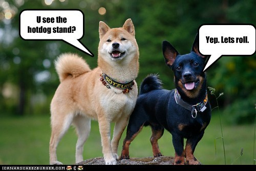U see the hotdog stand? Yep. Lets roll.