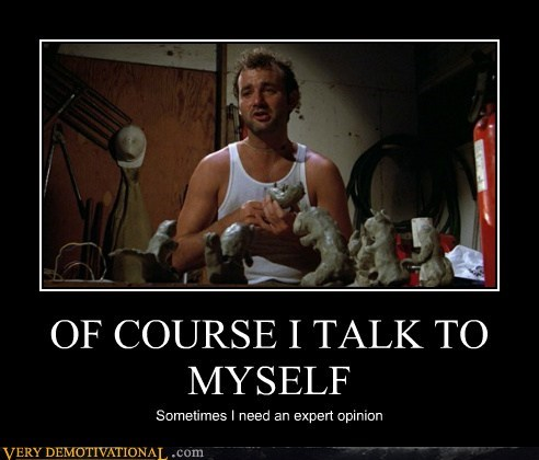 bill murry caddyshack Pure Awesome talk to yourself - 6506012416