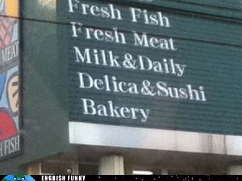 bakery daily delica delica fish market meat sushi