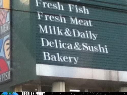 bakery fish market meat sushi - 6506131456