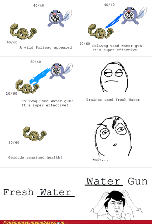 geodude,rage comic,Rage Comics,water