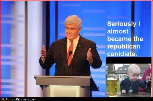 drunk baby,newt gingrich,political pictures,Republicans