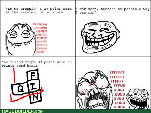 fu guy,points,Rage Comics,scrabble