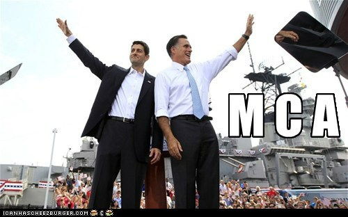 dance,Mitt Romney,paul ryan,song,village people,waving,ymca