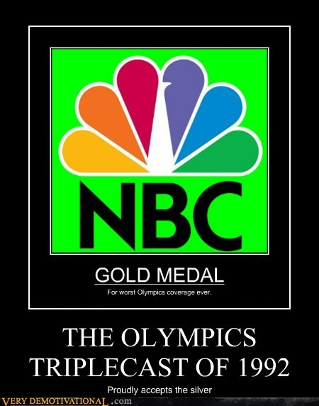 NBC olympics Terrifying triplecast