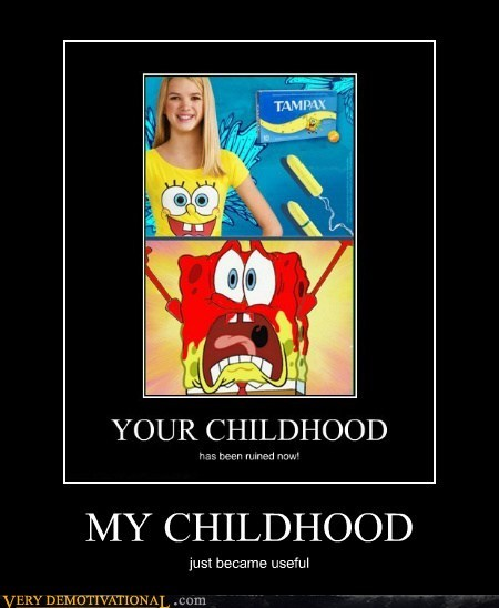 childhood SpongeBob SquarePants tampon