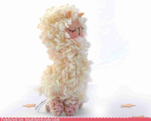 curly llama Plush sleepy yarn - 6507037440