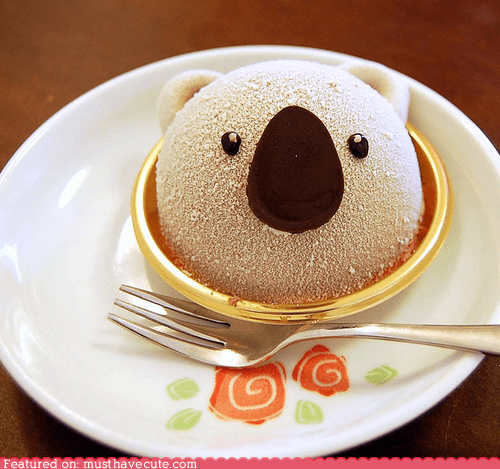 chocolate dessert epicute koala