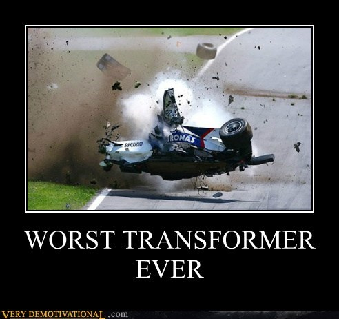 crash,hilarious,race car,transformer,worst