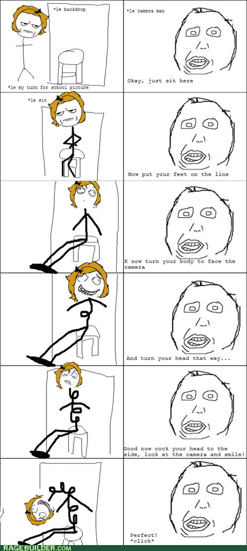 are you kidding me derp Rage Comics school pictures - 6507503104