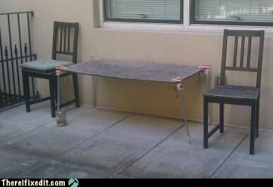 There I Fixed It Table Legs White Trash Repairs