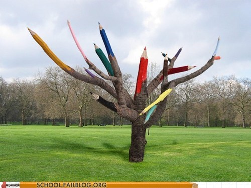 great pencil tree pencils trees - 6507670784