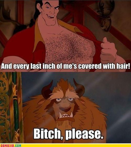 Beauty and the Beast,cartoons,From the Movies,Gaston