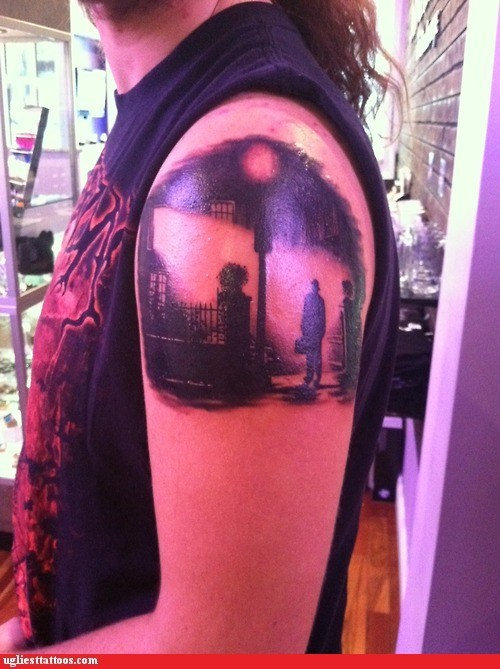arm tattoos noir street scene - 6507790080