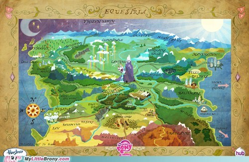 Official Map of Equestria