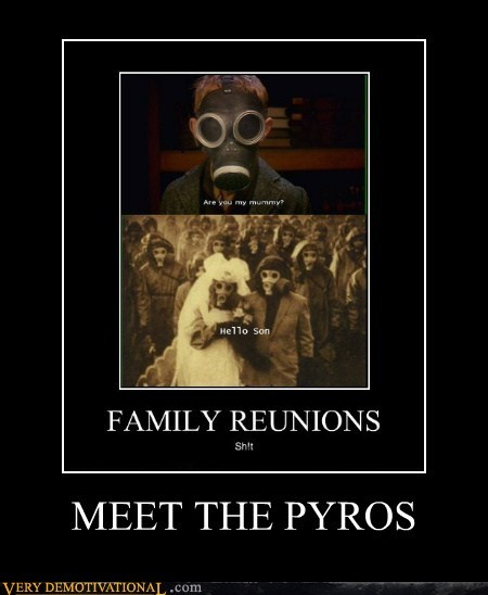 family reunion,hilarious,pyros
