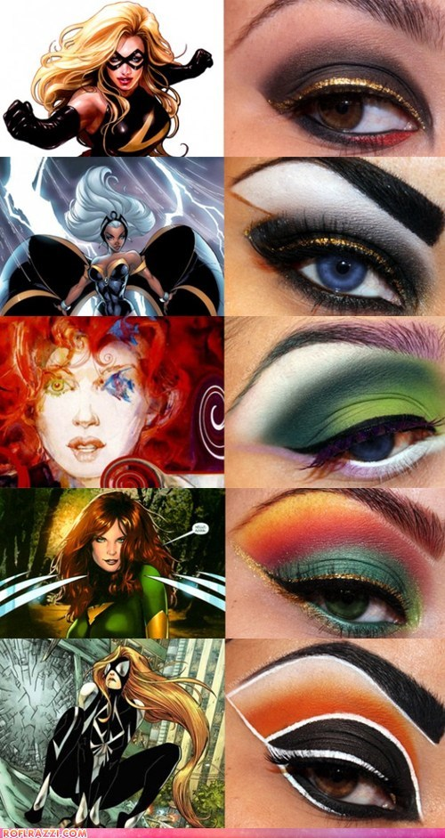 comics fashion funny celebrity pictures geek if style could kill make up makeup xmen - 6508138752