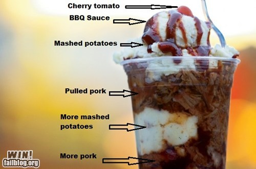 barbecue bbq food g rated pork shake sundae win yum - 6508259072