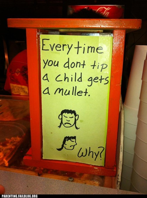 funny signs mullet tip - 6508265216