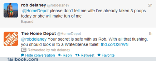 home depot,rob delaney,tweet,twitter