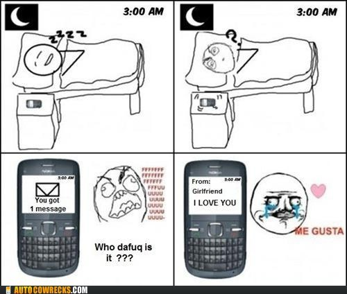 i love you,Rage Comics,so kewt,woken up