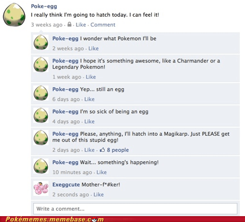 dreams,exeggcute,facebook,poke-egg,the internets