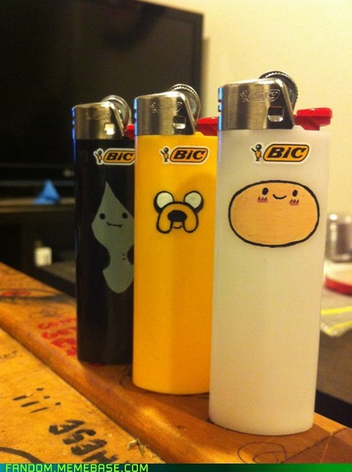 adventure time cute Fan Art lighters - 6508431616