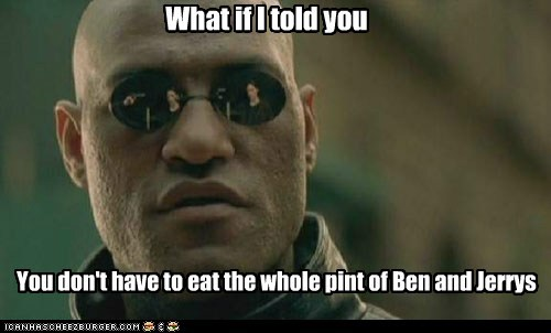 ben-and-jerrys ice cream Lawrence Fishburne Morpheus pint the matrix what if i told you - 6508451584
