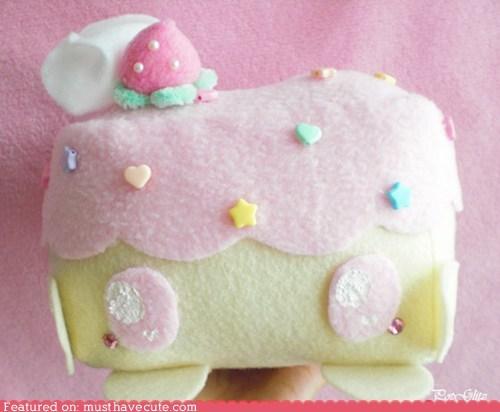 cake case felt frosting kawaii phone whipped cream - 6508601856