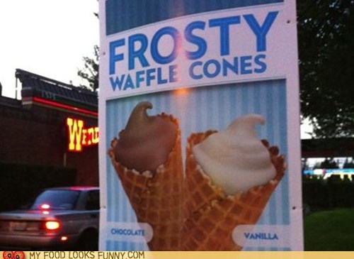 cone,frosty,ice cream,wendys