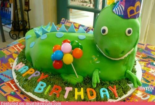 Balloons birthday cake dinosaur epicute fondant - 6508610560