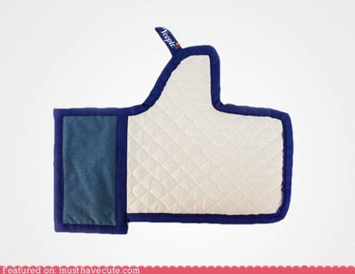 facebook hand like oven mitt thumbs up