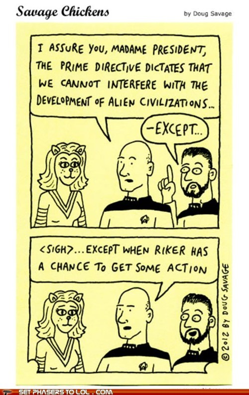 action,Captain Picard,civilizations,comic strip,prime directive,sigh,Star Trek,Star trek the next generation,star trek: The next gener,william riker