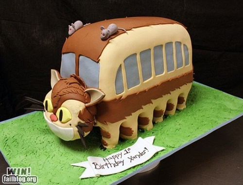 cake,cat bus,neko no basu,nerdgasm,totoro