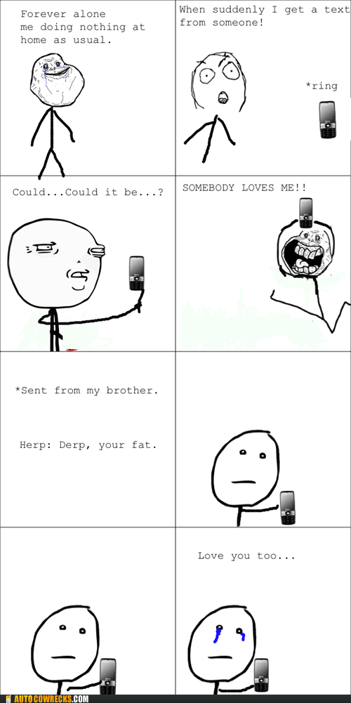 brother,love you too,Rage Comics,somebody loves me,youre-fat