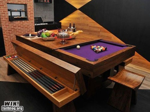 best of week,design,dinner table,g rated,Hall of Fame,pool,pool table,win