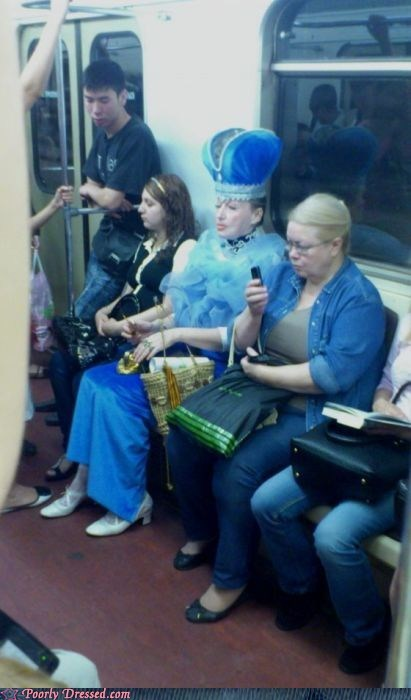 dress public transportation royalty train