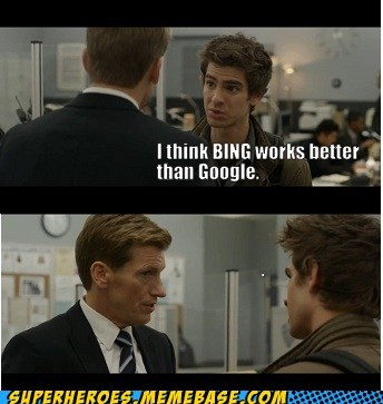 bing,google,idiot,peter parker,Super-Lols