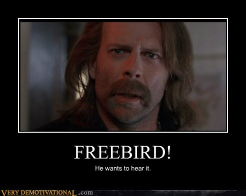 bruce willis,freebird,hilarious,song
