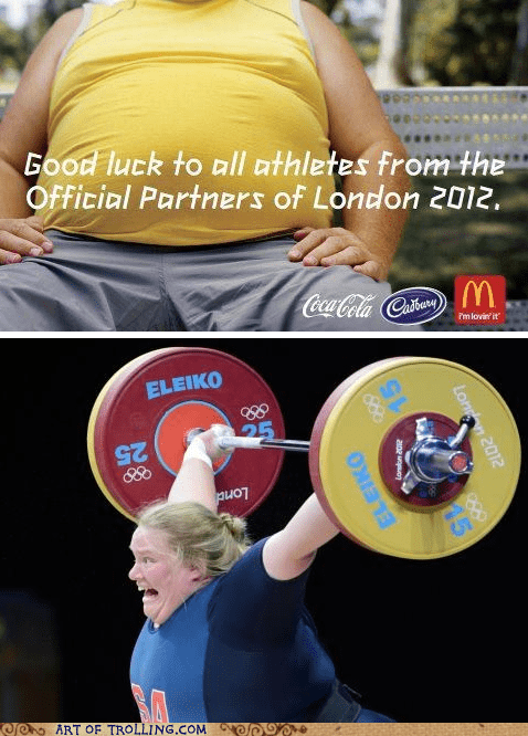 IRL,McDonald's,olympics,weight