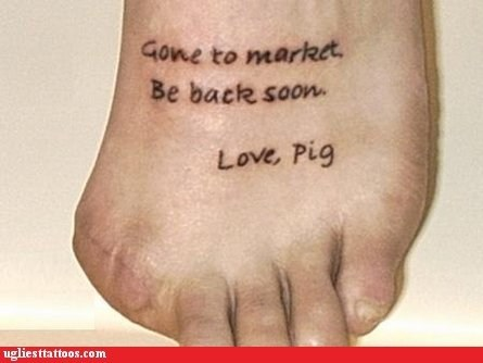 gone to market,missing toe,pig