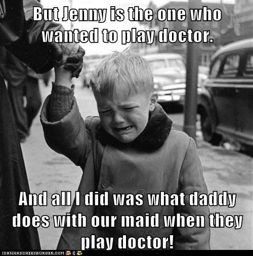 cry,daddy,doctor,kid,play doctor