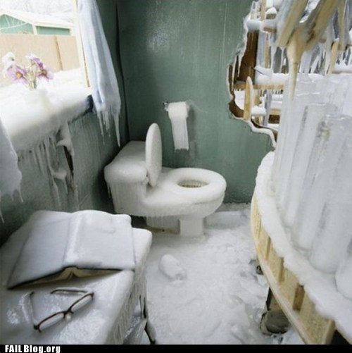 bathroom,frozen,ice