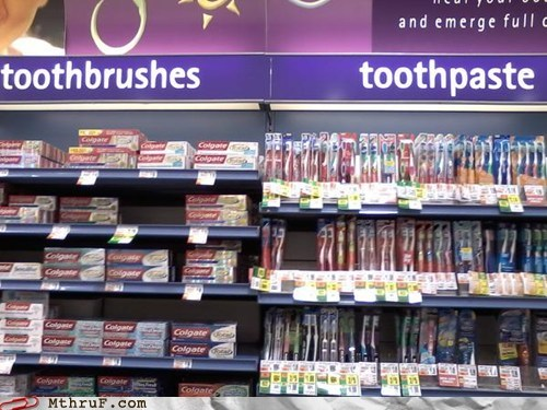 drug store,toothbrushes,toothpaste