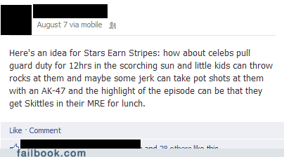 children,failbook,g rated,reality tv,stars and stripes,television