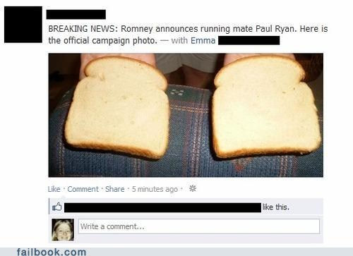 bread Mitt Romney paul ryan politics Romney - 6511059712