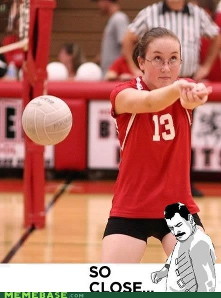 Memes net so close volleyball