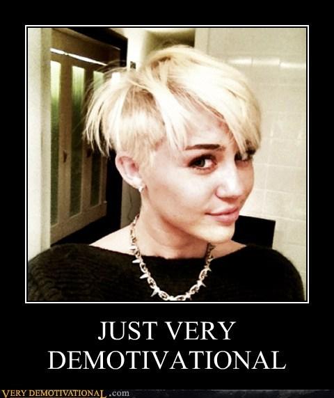 demotivational hair cut hilarious miley cyrus - 6511128576