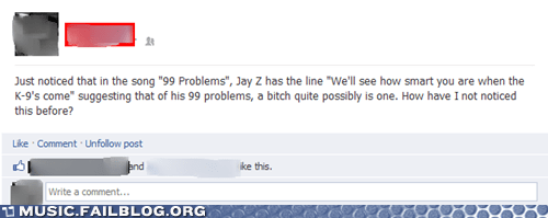 99 problems facebook Jay Z - 6511147008