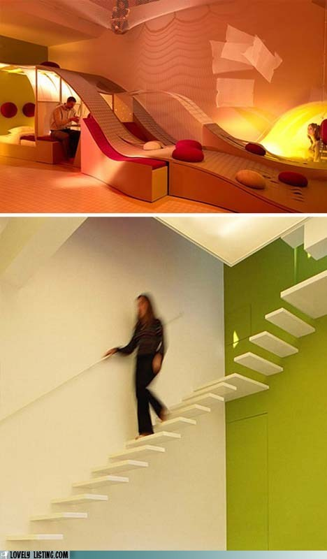 acrophobia floating house open stairs terror